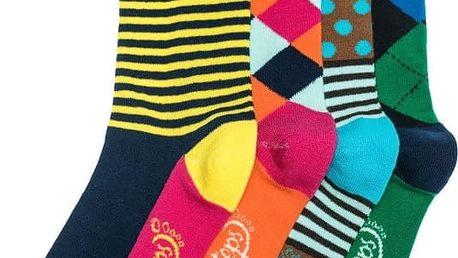 Čtyři páry ponožek Funky Steps Dina, unisex velikost