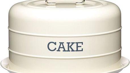 Plechová dóza Kitchen Craft Cake, krémová