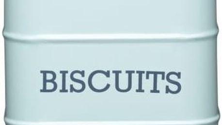 Plechová dóza Kitchen Craft Biscuits, modrá