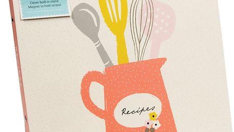 Kniha receptů Busy B Recipe Floral A4