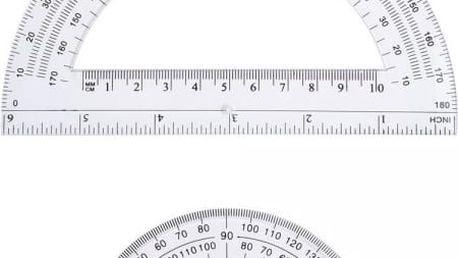 2 kusy 180° úhloměrů