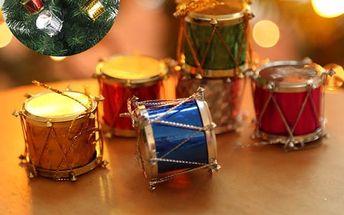 Sada vánočních bubínků - 6 kusů