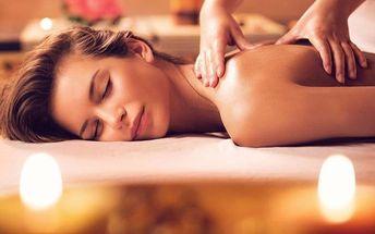 40minutová masáž zad a šíje vonnými oleji