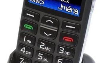 """Aligator A680 + stojánek (A680) černý TWIST SIM karta """"Neomezeně"""" 200 Kč kredit (zdarma) + Doprava zdarma"""