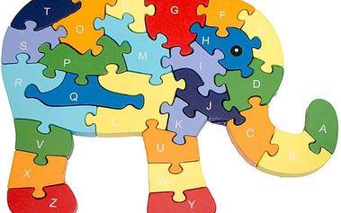 Dřevěné vzdělávací puzzle pro děti v akci