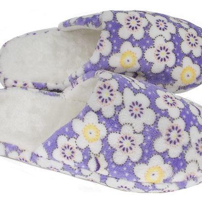 Modern World Dámské papuče s kytkami