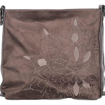 Fashion Icon Dámská kabelka velká s ornamenty umělá kůže crossbody přes rameno velká Business Casual velká VK0064-HS