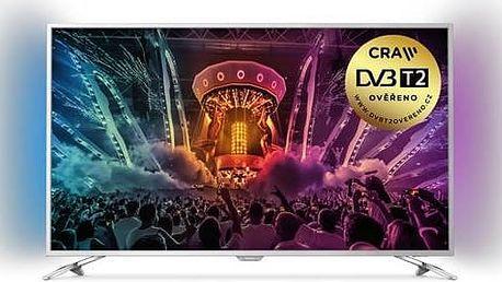 Televize Philips 43PUS6501 stříbrná + Doprava zdarma