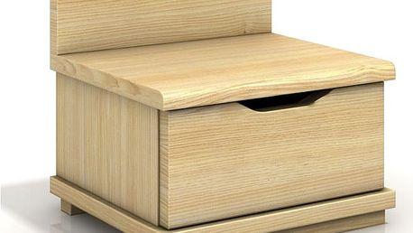 Noční stolek Berit z masivu borovice
