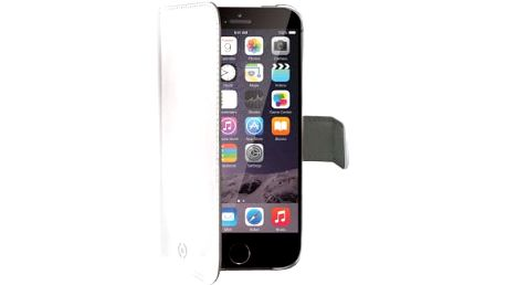 CELLY Wally flipové pouzdro pro iPhone 6 PLUS, bílá - WALLY601W