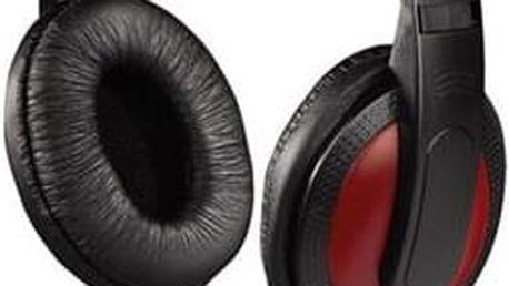 Hama sluchátka HK-5618, uzavřená, černá/červená; 135618
