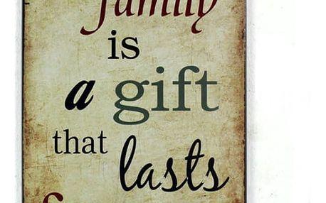 Plechová cedule - Rodina je dar