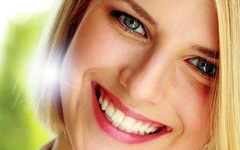 Neperoxidové bělení zubů: modrý laser, 30min. bezbolestná metoda, až o 8 odstínů bělejší chrup