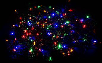 Vánoční LED osvětlení - 150 LED řetěz zelený