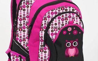 Batoh školní P + P Karton OXY Fashion Pink Owl