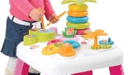 SMOBY Cotoons multifunkční hrací stůl – růžový
