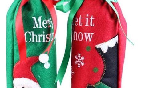 Taška dárková s vánočním motivem/obal na víno