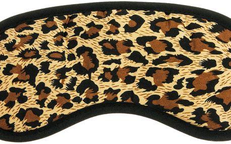 Fashion Icon Maska na spaní leopard hnědá
