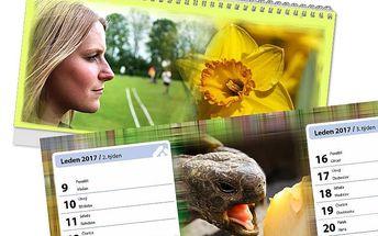 Kalendář na rok 2017 s vlastní fotografií: roční, měsíční, čtrnáctidenní nebo týdenní