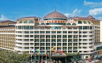 Hotel Planeta, Bulharsko, Černomořské pobřeží, 8 dní, Letecky, All inclusive, Alespoň 5 ★★★★★, sleva 8 %, bonus (Levné parkování u letiště: 8 dní 499,-   12 dní 749,-   16 dní 899,- , Parkování u letiště zdarma)