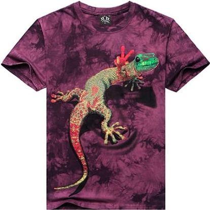 Tričko s 3D potiskem - chameleon