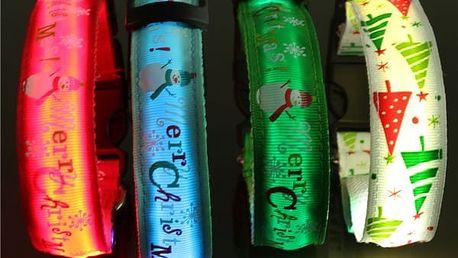 Obojek s LED světly a s vánočními motivy