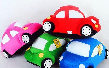 Plyšové autíčko - v 6 barvách
