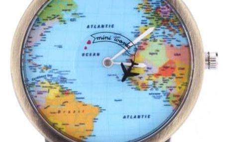 Cestovatelské hodinky s letadélkem - více barev