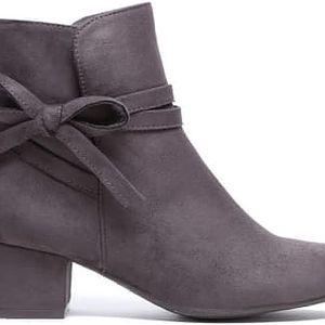 Dámské tmavě šedé kotníkové boty Virginie 1089