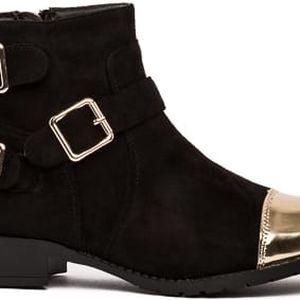 Dámské černé kotníkové boty Elsie 2032