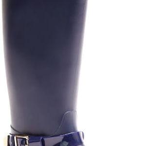 Dámské námořnicky modré vysoké kozačky Penelope 041