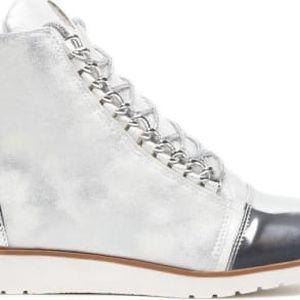 Dámské stříbrné kotníkové boty Danna 1044a