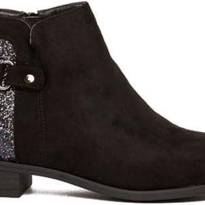 Dámské černé kotníkové boty Eiwa 016