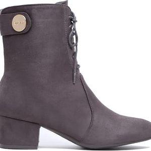 Dámské tmavě šedé kotníkové boty Ronda 1090