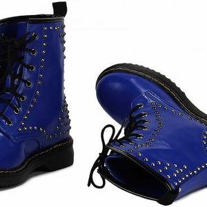 Dámské modré kozačky Metal 114