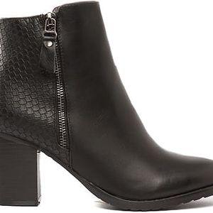 Dámské černé kotníkové boty Member 023