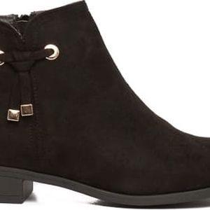 Dámské černé kotníkové boty Olivera 014