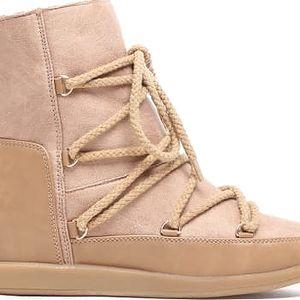 Dámské béžové kotníkové boty Eskymo 8168