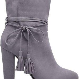 Dámské šedé kotníkové boty July 1100