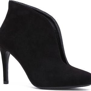 Dámské černé kotníčkové boty Mobby 1075