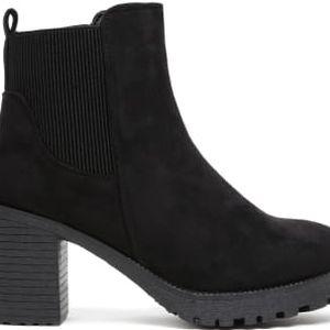 Dámské černé kotníkové boty Cyrah 6031