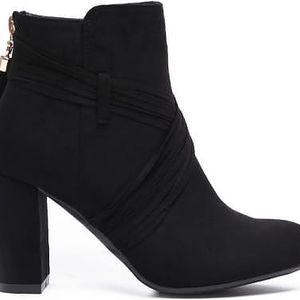 Dámské černé kotníkové boty Renji 1093