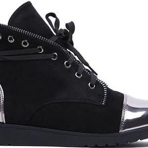 Dámské černé kotníkové boty Yesmina 2025
