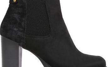Dámské černé semišové kotníčkové boty Konrade 1069