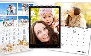 Roční nebo měsíční kalendář z vašich fotografií