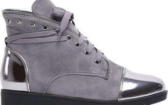 Dámské šedé kotníkové boty Yesmina 2025