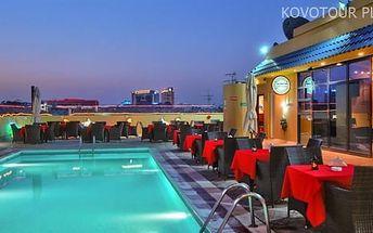 Dubaj, Spojené Arabské Emiráty, hotel Holiday Inn Downtown, letecky, snídaně v ceně
