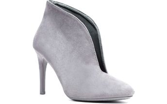 Dámské šedé kotníčkové boty Mobby 1075