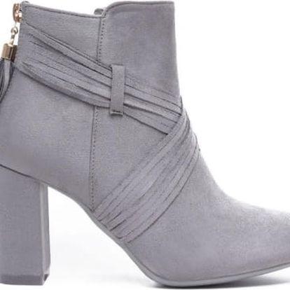 Dámské světle šedé kotníkové boty Renji 1093