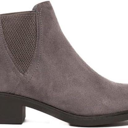 Dámské tmavě šedé kotníkové boty Fantastic 037